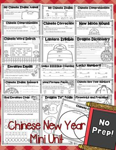 This Chinese New Year mini unit is perfect for teaching students about Chinese New Year! ELA and Math are included!