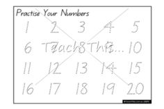 Practise Your Numbers 1-20