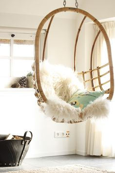 hanging chair and a shaggy decorating before and after interior room design design ideas home design My New Room, My Room, Swinging Chair, Deco Design, Home And Deco, Lofts, My Dream Home, Interior And Exterior, Interior Modern