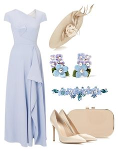 """Royal Ascot"" by claire-hamilton-bristol ❤ liked on Polyvore featuring Roland Mouret, Gianvito Rossi, Philip Treacy, Dolce&Gabbana and Sretsis"