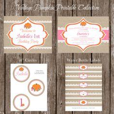Vintage Pumpkin/Rose/Lace Printable by Marbella1Printables on Etsy, $29.50