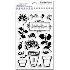 Bold Geraniums   Stampendous Perfectly Clear Stamps: Arts