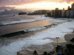 swell chegando a Icaraí - Niterói - RJ