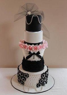 Nice burlesque wedding cake.