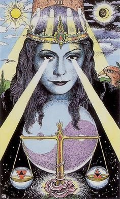 Cosmic Tarot justice tarot - Google Search