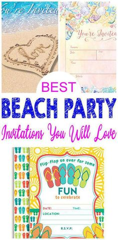 588154740288 32 Best Beach Party   Invitations images