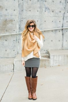 how to wear a blanket scarf - brightontheday 34