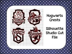 Harry Potter Hogwarts Crests Silhouette Cut File