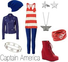Captain America outfit. There are no words to describe how much I want these clothes!