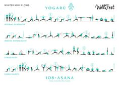 Shake off the cold weather and use your yoga practice to help deal with all that winter brings - here's some mini winter flows from Yoga Ru to help you out Bikram Yoga, Ashtanga Yoga, Vinyasa Yoga, Zen Yoga, Meditation, Yoga Flow Sequence, Yoga Sequences, Gentle Yoga Flow, Yoga Information