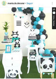 Panda Party, Panda Themed Party, Panda Birthday Party, Bear Party, Baby Shower Themes, Baby Boy Shower, Birthday Party Decorations, Party Themes, Party Ideas