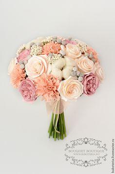 Купить Свадебный букет невесты - букет невесты, букет из глины, букет из полимерной глины