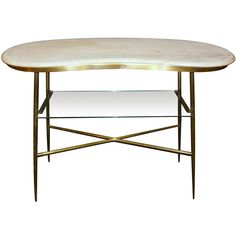 Italian Brass  Cocktail  Table | From a unique collection of antique and modern coffee and cocktail tables at http://www.1stdibs.com/furniture/tables/coffee-tables-cocktail-tables/