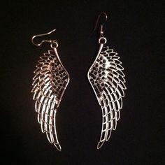 Earrings Wing earrings with little black diamonds  Jewelry Earrings