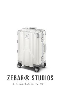 The ZEBAR Hybrid Cabin in WHITE skilfully combines two of the most advanced materials in the world - the resilience of our unique aluminum magnesium alloy with the outstandingly light quality of polycarbonate - to an outstanding product of German construction, which is ideal as a lifelong travel companion. The hand luggage case developed in Germany fits in the overhead lockers of most airlines and is perfect for business trips or weekend trips. Luggage Case, Hand Luggage, Air France, Cabin Suitcase, Dynamic Design, Berlin Germany, Business Travel, Beige, Berlin