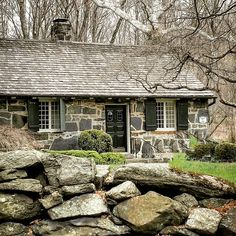 """1,349 Likes, 44 Comments - House Stories by Ken Staffey (@housestories_by_kenstaffey) on Instagram: """"A waterfall that offers an idyllic bedroom view from this stone cottage once served a very useful…"""""""