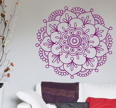 Vinilo decorativo flor de loto hindú(aCHEI ISSO INOVADOR VOCÊ PINTAR NA SUA PAREDE A SUA MANDALA BEM LEGAL MESMONUNCA NEM PENSEI NISSO MAS EU NÃO SABERIA.