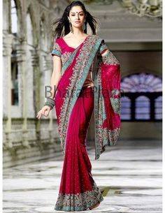 Admirable Reception Saree:  The Reception Saree is very admirable and well decorated with shiny stomes, kundan, Jari etc. Drape this for any occasion. Refer - http://www.bharatplaza.com/womens-wear/sarees/wedding-sarees.html Item code : SKD2202BN