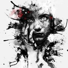 Patrice Murciano French Pop Art and Mix Media painter Tutt'Art@ () Murciano Art, Patrice Murciano, Trash Polka Art, Dark Art Drawings, Arte Horror, Arte Pop, Art Moderne, Portrait Art, Face Art