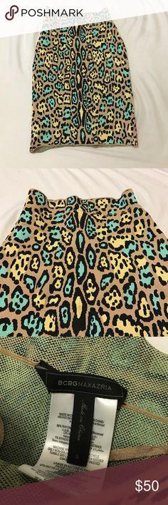 BCBG skirt BCBG skirt 13% nylon 86% rayon 1% spandex extremely stretchy body con fit BCBGMaxAzria Skirts