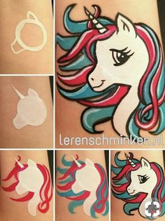 Face painting examples are very useful in the art of face painting. One of the greatest things about face painting examples, is that there are many reference Face Painting Unicorn, Body Painting, Unicorn Drawing, Painting Art, Face Painting Tutorials, Painting Patterns, Painting Techniques, Rock Painting Designs, Paint Designs