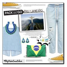 """""""Pack and Go: Rio"""" by aidasusisilva ❤ liked on Polyvore featuring Steve J & Yoni P, Rifle Paper Co, Ricardo Rodriguez, Elena Ghisellini, Converse, rio, pacandgo and rio2016"""