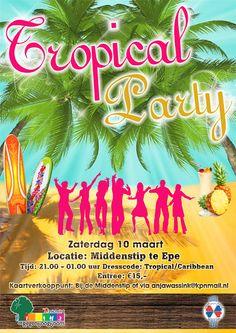 2012: Ladies Circle Epe hield een Tropical Party in regenboogkleuren. Warm en zonnig feest!