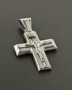 Λευκόχρυσος σταυρός Κ14