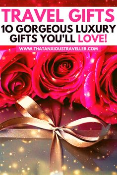 Looking for the best luxury travel gifts for her? Whether you want the perfect gifts for someone traveling abroad, or just looking to treat yourself, you'll find the ideal gifts for travel lovers in this guide! We've got ten tried and tested travel products that every girl will love! With personalized, practical, and downright glamorous presents, you're bound to make their travel better, and their day a special one! #TravelGifts #LuxuryTravelGifts #LuxuryGifts #TravelAccessoriesForWomen