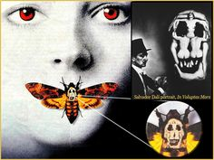 """Salvador Dali portrait """"In Voluptas Mors"""" skull in the deaths head moth - """"the Silence of the Lambs"""" cover art Lamm Tattoo, Salvador Dali Tattoo, Deaths Head Moth, Art Drawings Beautiful, Cover Tattoo, Dark Art, Graphic Prints, Cover Art, Tattoos"""