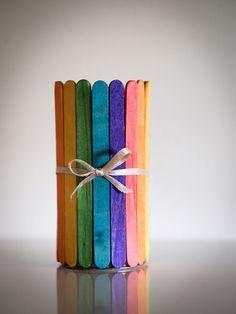 kolorowy kubek na długopisy w Zwierzostan na DaWanda.com