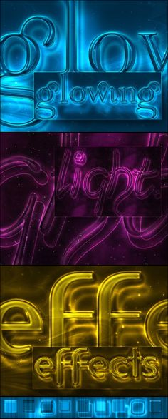 Glowing Light Text Effect and Styles
