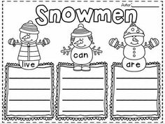 FREEBIE in the PREVIEW!!!  Simply Snowmen~ writing mini unit for 1st-2nd Grades!  Fun Filled snowman writing activities and printables!  SNOW MUCH FUN!