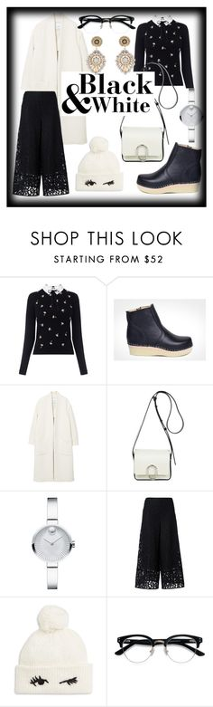 """Black & White"" by maguba ❤ liked on Polyvore featuring Oasis, Maguba, MANGO, 3.1 Phillip Lim, Movado, See by Chloé, Kate Spade, Ace and Miguel Ases"