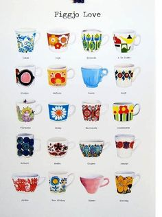 Figgjo Flint - Retro Designs ~ I really like all the bold colors and funky designs on these dishes.