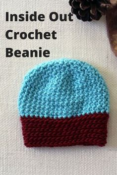 Inside Out Crochet Beanie