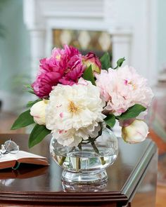 Superior Peony Silk Flower Centerpiece