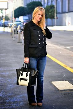 Whit styles an adorable peacoat! Click through for a chance to win it!