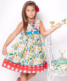 Take a look at this White & Red Elle Abbey Dress - Infant, Toddler & Girls by Jelly the Pug on #zulily today!