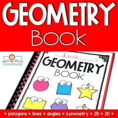This Geometry Book Project resource has everything you need to create a fun, hands-on addition to geometry units in your second, third, fourth, fifth, or homeschool classrooms. This 40 page pack covers geometry topics such as polygons, quadrilaterals, shape attributes, partitioning shapes, symmetry, shape transformations, coordinate planes, and more. Perfect for introducing fractions, 2nd, 3rd, 4th, and 5th graders stay engaged and motivated as they practice understanding #geometry concepts.