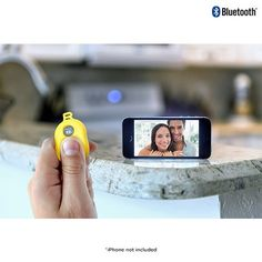 Cool stocking stuffer! Bluetooth Selfie Remote Shutter Button - Assorted Colors at 70% Savings off Retail!