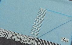 Baby Blanket Blue - 100% Lambswool