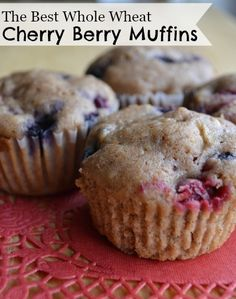 The Best Cherry Berry Whole Wheat Muffins - these look delicious and are perfect for the frozen fruit in my freezer!