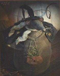 primitive halloween wool applique | prim halloween wool applique | Primitive Folk Art Pattern THE ...