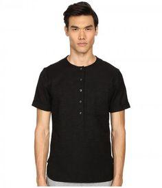 Matiere - Maas Japanese Textured Slub Tunic (Black) Men's Clothing