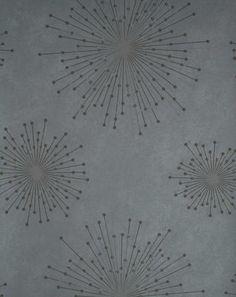 Grey Retro Pattern Wallpaper