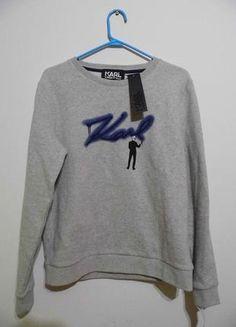 Karl Lagerfeld nowa bluza XS S szara Karl Lagerfeld, Asos, Zara, Graphic Sweatshirt, Nike, Sweatshirts, Sweaters, Fashion, Moda