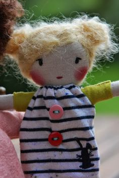 Unique doll to be dressed  MINI Handmade Cloth doll by AnettGujdar, €22.00