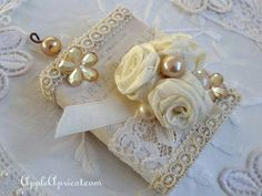 Apple and Apricot: Romantic French altered matchbox { + tutorial link }