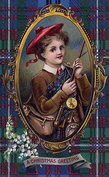 Scottish Boy in tartan plaid Celtic Christmas, Tartan Christmas, Christmas Past, Christmas Greetings, Xmas, Christmas Christmas, Christmas Ideas, Vintage Greeting Cards, Vintage Christmas Cards